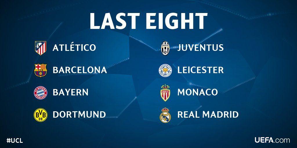 Стали известны все четвертьфиналисты футбольной Лиги Чемпионов